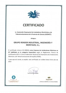 Empresa Instaladora Certificada