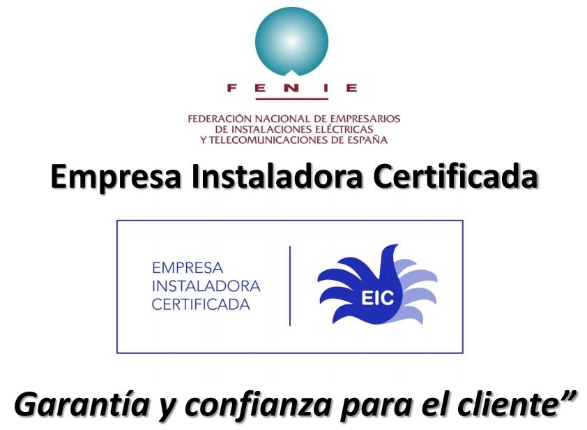 Grupo Render obtiene un año más el certificado Empresarial de Instaladores Electricistas y de Telecomunicaciones
