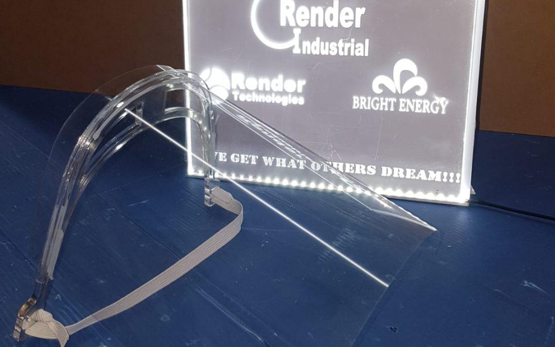 Grupo Render realiza mascaras de protección